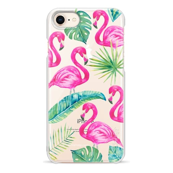 iPhone 8 Cases - Tropical Flamingos