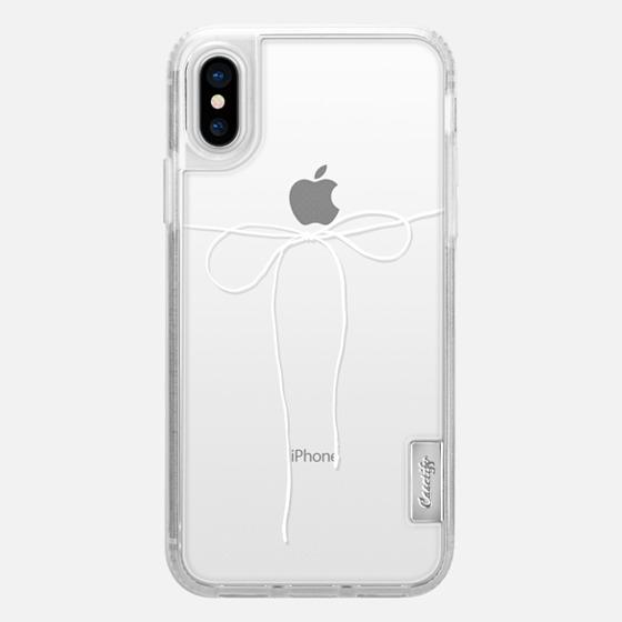 iPhone X Case - TAKE A BOW II - BLANC