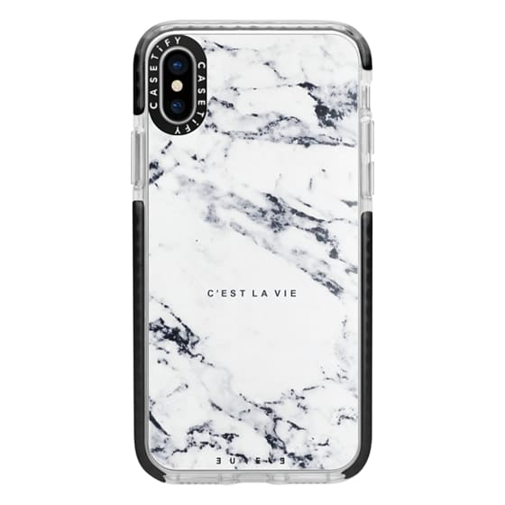 iPhone X Cases - C'EST LA VIE / W / MARBLE