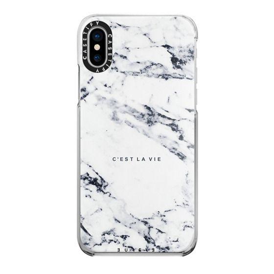 iPhone X Cases - C'EST LA VIE / W / MARBLE