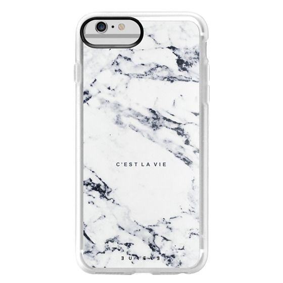 iPhone 6 Plus Cases - C'EST LA VIE / W / MARBLE