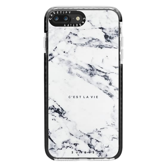 iPhone 7 Plus Cases - C'EST LA VIE / W / MARBLE