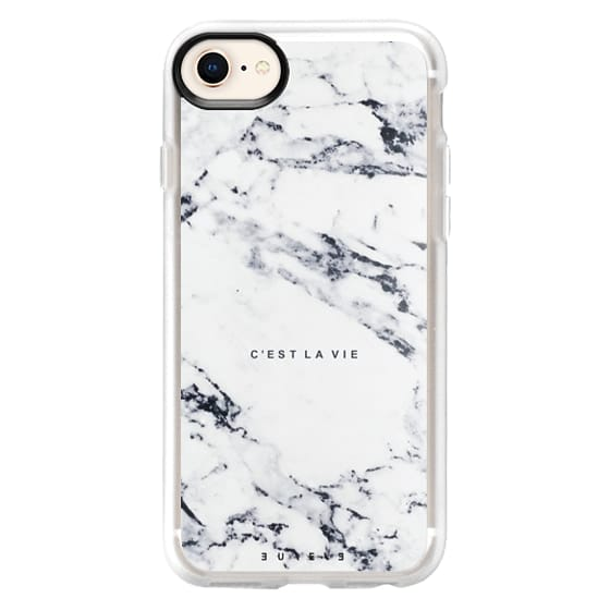 iPhone 8 Cases - C'EST LA VIE / W / MARBLE