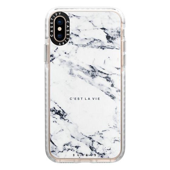 iPhone XS Cases - C'EST LA VIE / W / MARBLE