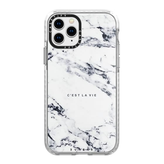 iPhone 11 Pro Cases - C'EST LA VIE / W / MARBLE