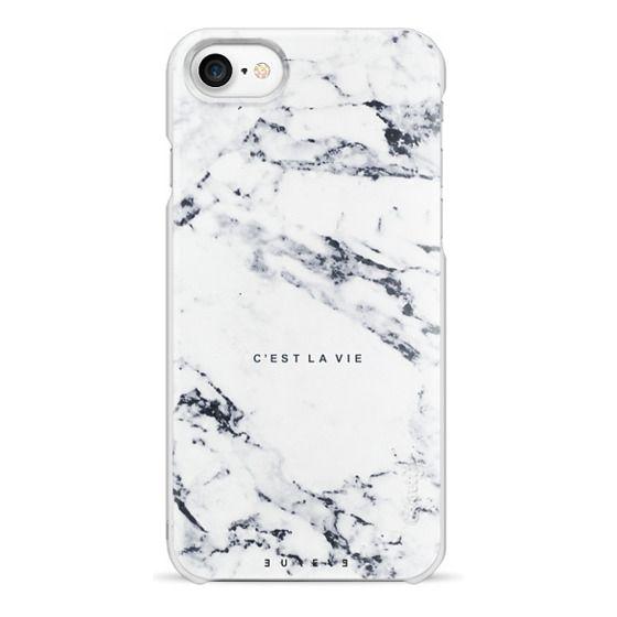 iPhone 7 Cases - C'EST LA VIE / W / MARBLE