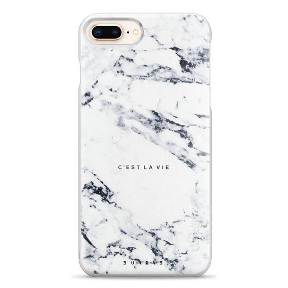 iPhone 8 Plus Cases - C'EST LA VIE / W / MARBLE
