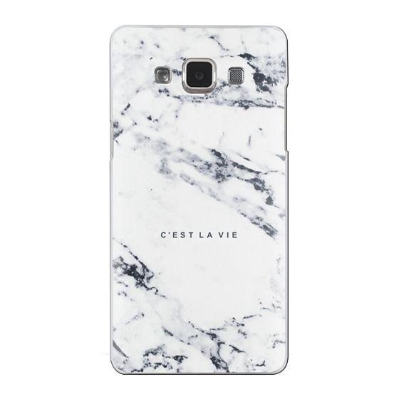 Samsung Galaxy A5 Cases - C'EST LA VIE / W / MARBLE