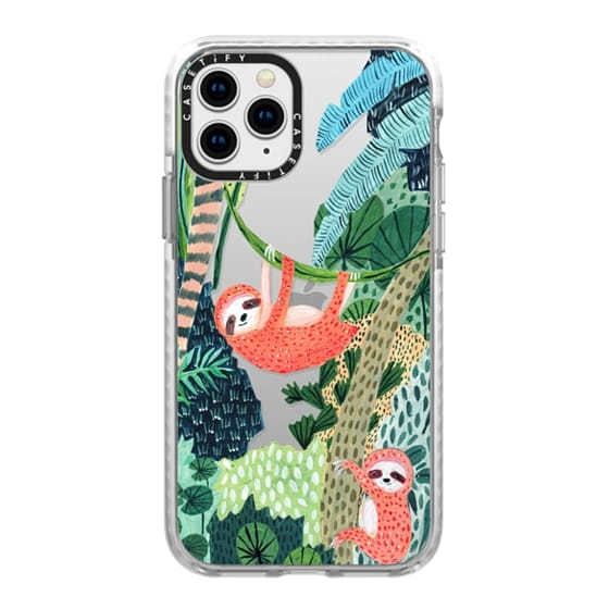 iPhone 11 Pro Cases - Jungle Sloth Family