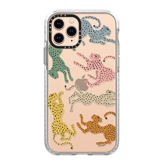 iPhone 11 Pro Cases - Rainbow Cheetah by Megan Galante