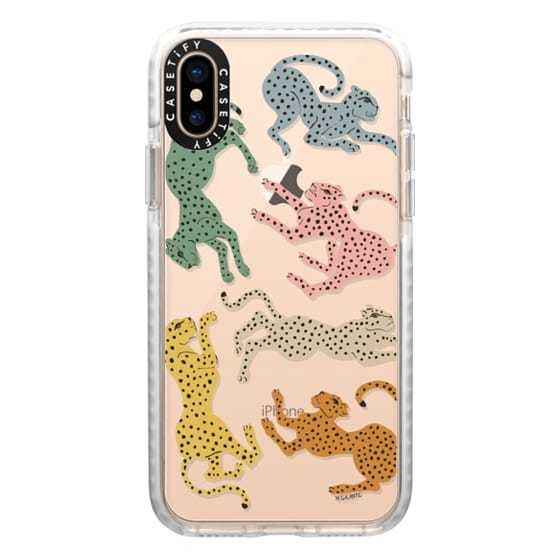 iPhone XS Cases - Rainbow Cheetah by Megan Galante