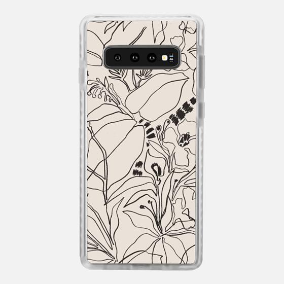 Samsung Galaxy / LG / HTC / Nexus Phone Case - Charcoal Tropics - Créme