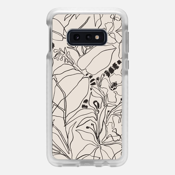 Samsung Galaxy / LG / HTC / Nexus Phone Case - Charcoal Tropics - Créme