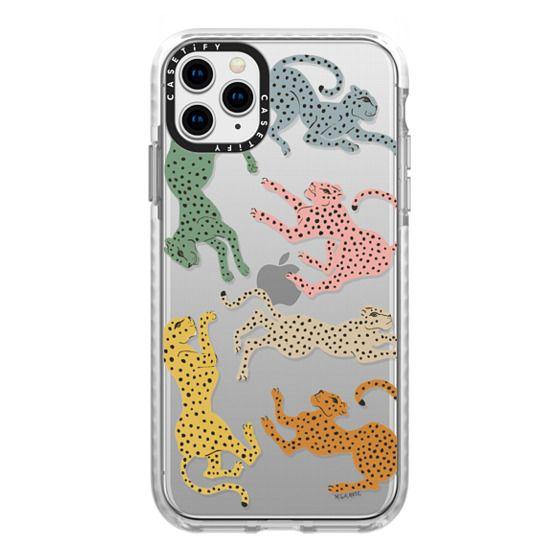 iPhone 11 Pro Max Cases - Rainbow Cheetah by Megan Galante
