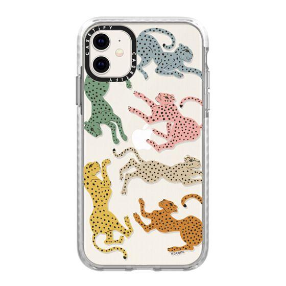 iPhone 11 Cases - Rainbow Cheetah by Megan Galante