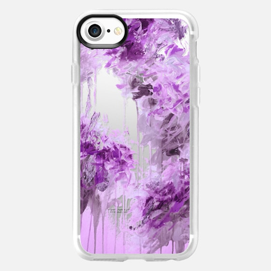 WHISPERED SONG 7 - Pastel Lilac Lavender Purple Abstract Flowers Feathers Painting Nature Wedding Bridal Bride Floral Bouquet Bridesmaid Winter Chic Transparent - Wallet Case
