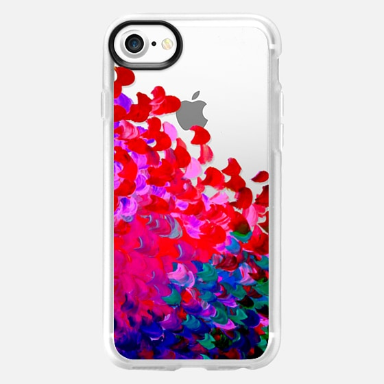 CREATION IN COLOR Rich Jewel Tone - Bold Elegant Ocean Waves Splash Ombre Neon Hot Pink Red Indigo Blue Girly Colorful Transparent Abstract Painting Festive Chic Brushstrokes Art Design - Wallet Case