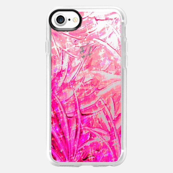 FAIRY DUST - PINK - Colorful Pretty Swirls Modern Transparent Girly Chic Bubblegum Pastel Pink Feathers Wings Ribbons Ombre Abstract Painting Breast Cancer Awareness October Art - Wallet Case