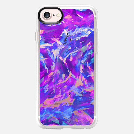 MOTLEY FLOW 2 - Orchid Plum Purple Blue Pink Swirls Watercolor Painting Fine Art Colorful Bold Abstract Whimsical Girly Chic Pretty Transparent Modern Ocean Waves Feminine Lavender Design - Wallet Case