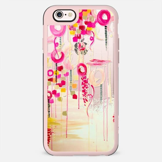 BUBBLEGUM POP - PINK Colorful Girly Chic Whimsical Hot Pink Magenta Cream Swirls Abstract Fine Art Painting Bubbles Clouds Transparent Elegant Feminine Polka Dots Circles Design - New Standard Case
