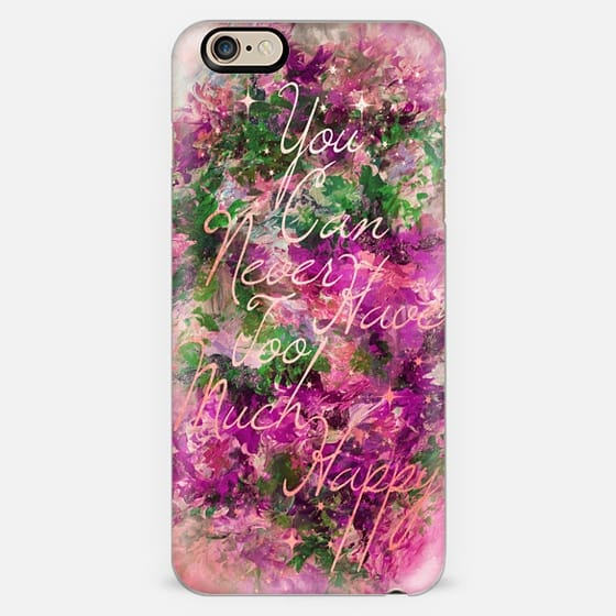 TOO MUCH HAPPY- FUCHSIA PEACH GREEN- Colorful Typography Positivity Smile Boho Chic Shimmer Font Modern Art Girly Abstract Pretty Pink Sparkle Stars -
