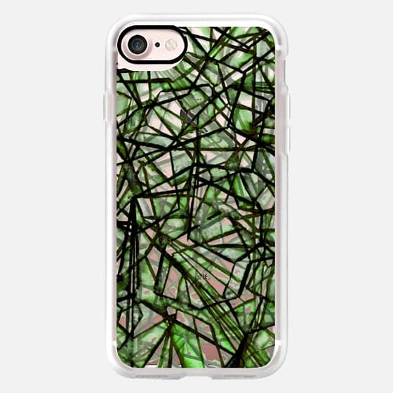 UNCHARTED, GREEN Lime Black Geometric Lines Pattern Modern Linear Grid Colorful Web Transparent Watercolor Design -