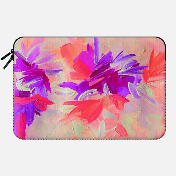 DECONSTRUCTING THE GARDEN 3 - Pretty Pink Lavender Lilac Purple Romantic Love Floral Romance Abstract Painting Flowers Bridal Bouquet Bride Wedding Elegant  -