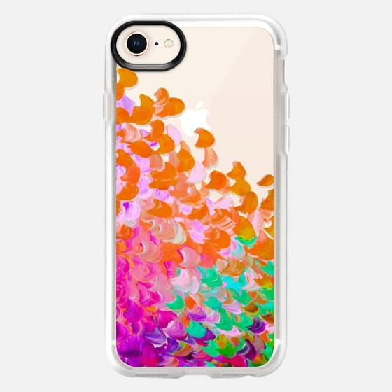 CREATION IN COLOR - TUTTI FRUITTI Colorful Rainbow Splash Ombre Abstract Cool Painting Coastal Ocean Waves Multicolor Transparent Girly Chic Modern Pattern Tropical Exotic Teen Design - Snap Case