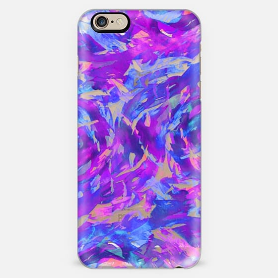 MOTLEY FLOW 2 - Orchid Plum Purple Blue Pink Swirls Watercolor Painting Fine Art Colorful Bold Abstract Whimsical Girly Chic Pretty Transparent Modern Ocean Waves Feminine Lavender Design -