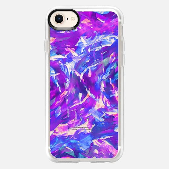 MOTLEY FLOW 2 - Orchid Plum Purple Blue Pink Swirls Watercolor Painting Fine Art Colorful Bold Abstract Whimsical Girly Chic Pretty Transparent Modern Ocean Waves Feminine Lavender Design - Snap Case