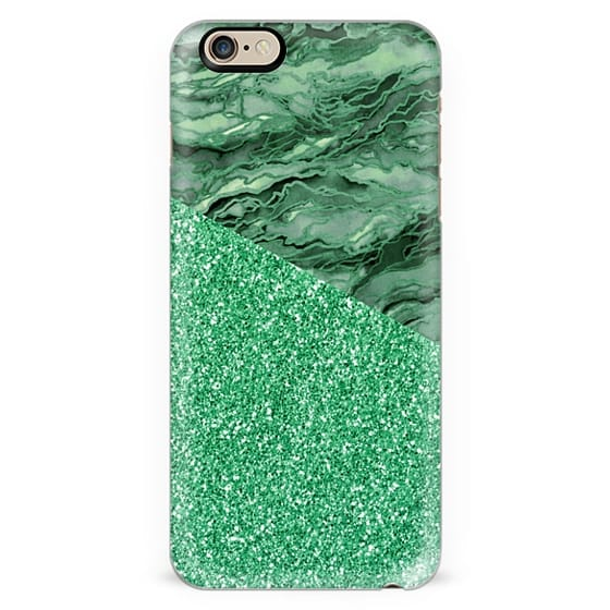 MARBLE IDEA - IRISH EMERALD GREEN FAUX GLITTER Watercolor Abstract Painting Marbled Agate Geode Pattern Chic Girly Ireland Metallic Sparkle Shimmer Glam Modern Trendy Elegant Art Design