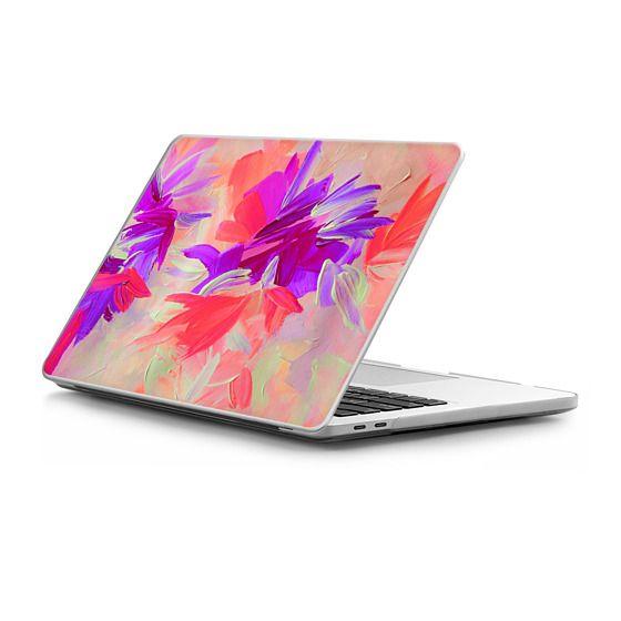MacBook Pro Touchbar 15 Sleeves - DECONSTRUCTING THE GARDEN 3 - Pretty Pink Lavender Lilac Purple Romantic Love Floral Romance Abstract Painting Flowers Bridal Bouquet Bride Wedding Elegant