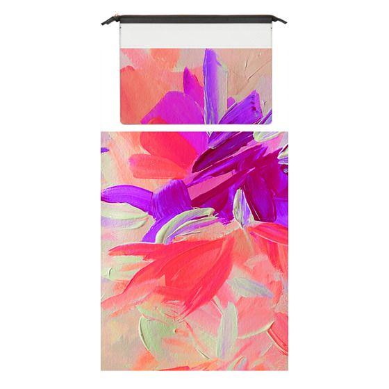 MacBook Pro 15 Sleeves - DECONSTRUCTING THE GARDEN 3 - Pretty Pink Lavender Lilac Purple Romantic Love Floral Romance Abstract Painting Flowers Bridal Bouquet Bride Wedding Elegant
