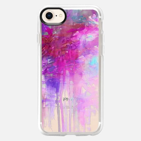 CARNIVAL DREAMS 1 Girly Pastel Pink Bubblegum Aqua Purple Abstract Watercolor Painting Transparent Rain Clouds Pretty Art Storm Sky Swirls Drip Effect Whimsical Chic Feminine Lovely  - Snap Case