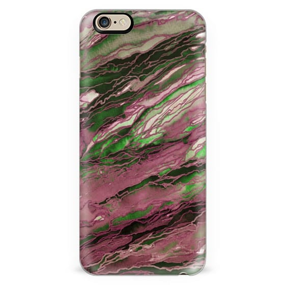 AGATE MAGIC, OLIVE GREEN MAUVE PINK Marble Glam Watercolor Painting Colorful Abstract Art Geode Marbled Gold Metallic Accents Rose Blush Glamorous Modern Trendy Jewel Tone Lovely Design