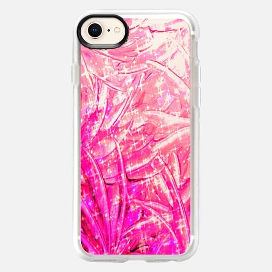 FAIRY DUST - PINK - Colorful Pretty Swirls Modern Transparent Girly Chic Bubblegum Pastel Pink Feathers Wings Ribbons Ombre Abstract Painting Breast Cancer Awareness October Art - Snap Case