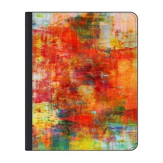 iPad Folio 12 9-inch iPad Pro (2018) Case - AUTUMN HARVEST - Bold Colorful  Abstract Acrylic Painting Fall Season Warn Tones Red Orange Yellow Fine Art