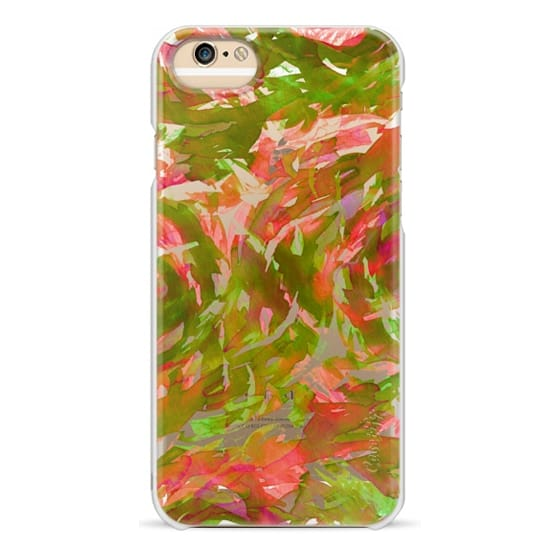 iPhone 6s Cases - MOTLEY FLOW 3 - Christmas Red Green Xmas Cheer Swirls Watercolor Painting Fine Art Colorful Bold Abstract Whimsical Girly Chic Pretty Transparent Modern Feminine Festive Holiday Ocean Design