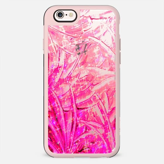 FAIRY DUST - PINK - Colorful Pretty Swirls Modern Transparent Girly Chic Bubblegum Pastel Pink Feathers Wings Ribbons Ombre Abstract Painting Breast Cancer Awareness October Art - New Standard Case