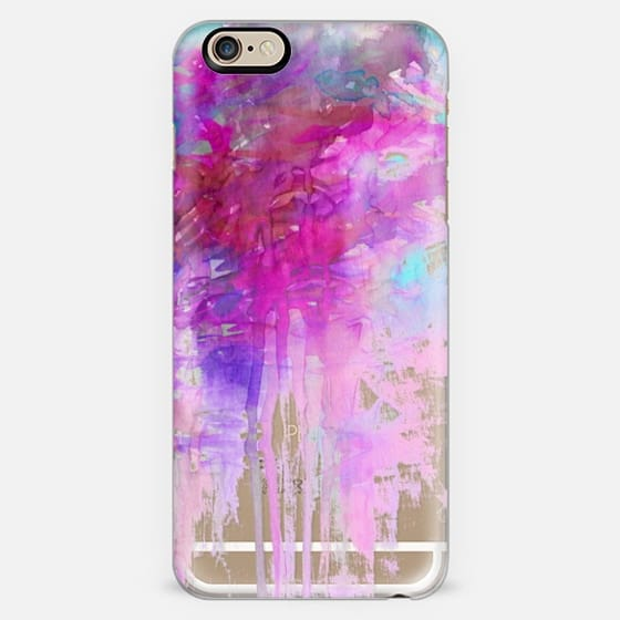 CARNIVAL DREAMS 1 Girly Pastel Pink Bubblegum Aqua Purple Abstract Watercolor Painting Transparent Rain Clouds Pretty Art Storm Sky Swirls Drip Effect Whimsical Chic Feminine Lovely