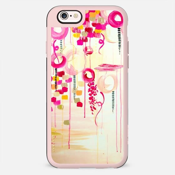 BUBBLEGUM POP - Whimsical Pretty in Pink Cream Abstract Clouds Sky Bubbles Balloons Girlie Feminine Swirls Painting - New Standard Case