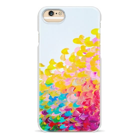 iPhone 6s Cases - CREATION IN COLOR Bold Rainbow Multicolor Ocean Waves Splash Sea Ombre Colorful Bright Spring Summer Yellow Red pink Green Turquoise White Abstract Painting