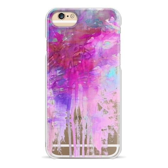 iPhone 6s Cases - CARNIVAL DREAMS 1 Girly Pastel Pink Bubblegum Aqua Purple Abstract Watercolor Painting Transparent Rain Clouds Pretty Art Storm Sky Swirls Drip Effect Whimsical Chic Feminine Lovely