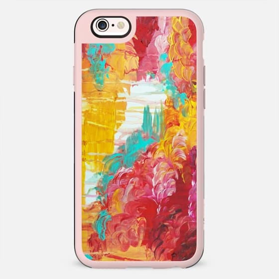 AUTUMN SKIES - Vibrant Fall Sky Clouds Fluffy Colorful Red Crimson Magenta Ochre Yellow Cream Stormy Rain Raining Colorful Abstract Nature Painting - New Standard Case