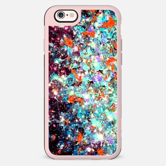 WRAPPED IN STARLIGHT - DEEP MIDWINTER Bold Colorful Ombre Whimsical Abstract Textural Painting Fine Art Turquoise Red Blue Purple Black Galaxy - New Standard Case