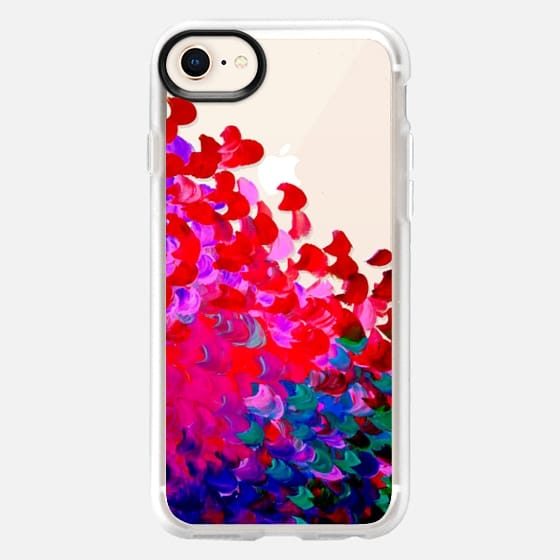 CREATION IN COLOR Rich Jewel Tone - Bold Elegant Ocean Waves Splash Ombre Neon Hot Pink Red Indigo Blue Girly Colorful Transparent Abstract Painting Festive Chic Brushstrokes Art Design - Snap Case