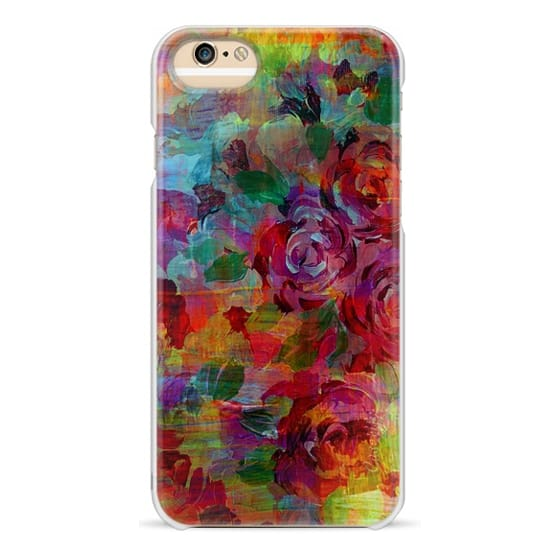 iPhone 6s Cases - THROUGH ROSE-COLORED GLASSES - Bold Colorful Roses Abstract Layered Floral Garden Summer Flowers Rainbow Multicolor Shabby Chic Textural Fine Art Girly Modern Chic Design