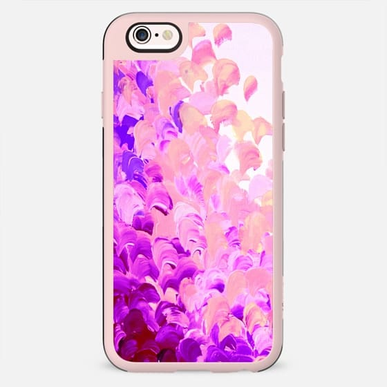 CREATION IN COLOR in LAVENDER - Colorful Pretty Feminine Chic Lilac Eggplant Aubergine Purple Violet Abstract Ocean Waves Beach Splash Painting