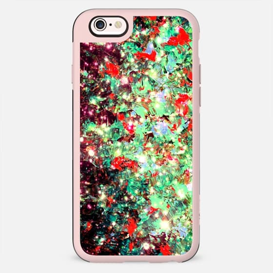 WRAPPED IN STARLIGHT - MISTLETOE NEBULA Colorful Bold Abstract Acrylic Painting Ombre Textural Fine Art Red Green Black Festive Xmas Galaxy - New Standard Case