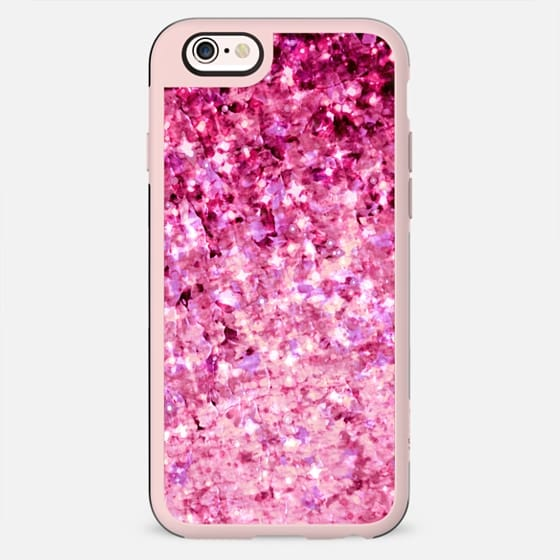 ROMANCE ME - Elegant Modern Chic Feminine Abstract Pretty in Pink Magenta Raspberry Radiant Orchid Fuschia Colorful Sparkle Stars Love Girlie Painting - New Standard Case